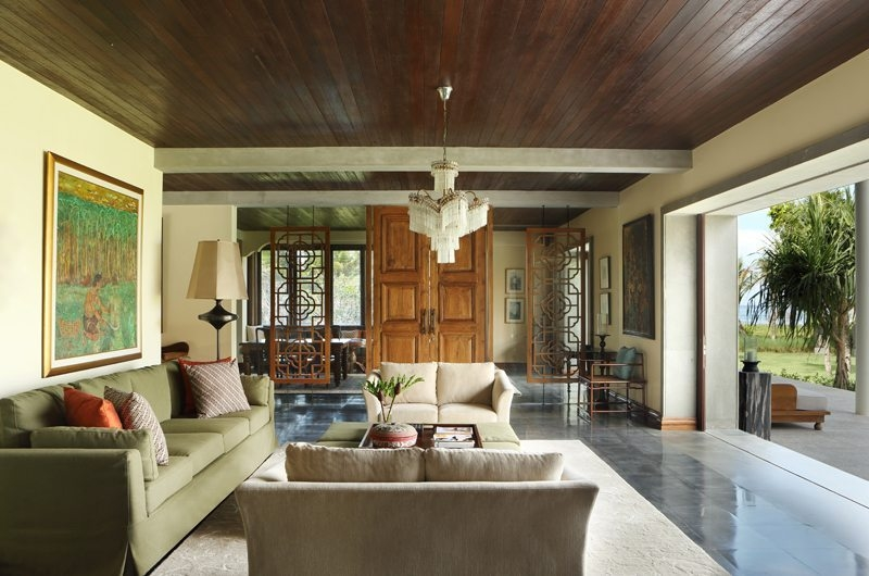 Jeeva Saba Estate Living Area with Outdoor View, Gianyar | 8 Bedroom Villas Bali