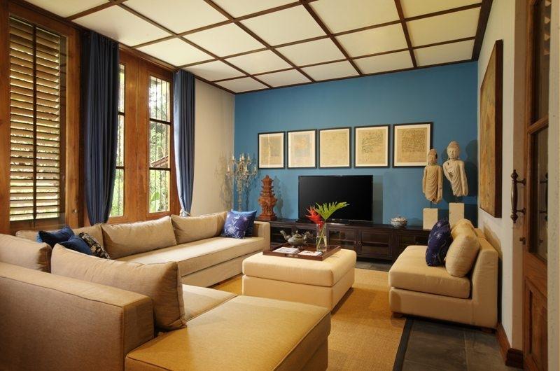 Jeeva Saba Estate Lounge Area with TV, Gianyar | 8 Bedroom Villas Bali
