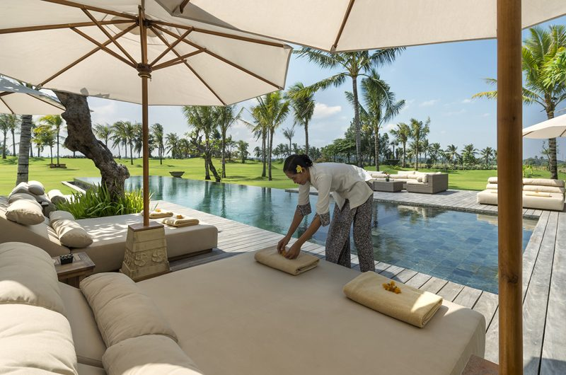Kaba Kaba Estate Pool Side Seating Area, Tabanan | 8 Bedroom Villas Bali