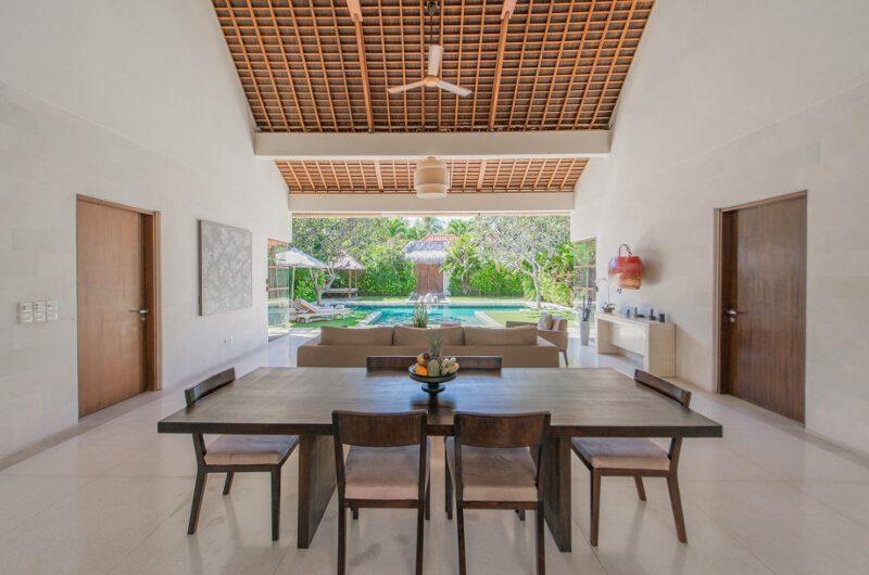 Nyaman Villas Living and Dining Area with Pool View, Seminyak | 8 Bedroom Villas Bali