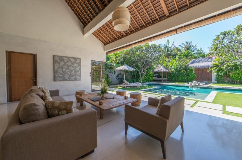 Nyaman Villas Living Area with Pool View, Seminyak | 8 Bedroom Villas Bali