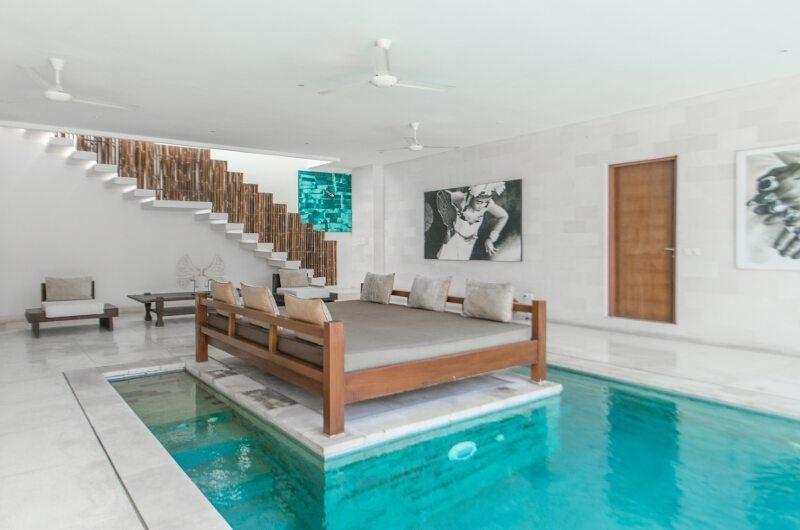 Nyaman Villas Pool Side Seating Area, Seminyak | 8 Bedroom Villas Bali