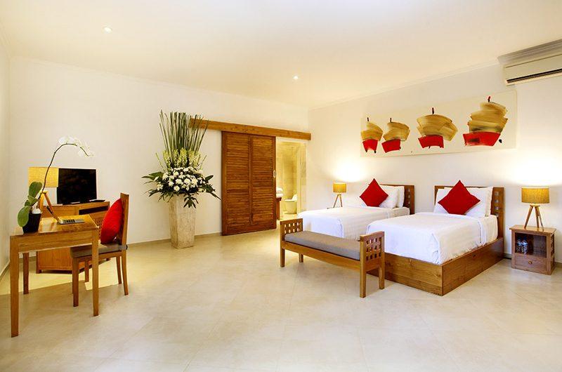 The Sanctuary Bali Twin Bedroom with TV, Canggu | 8 Bedroom Villas Bali