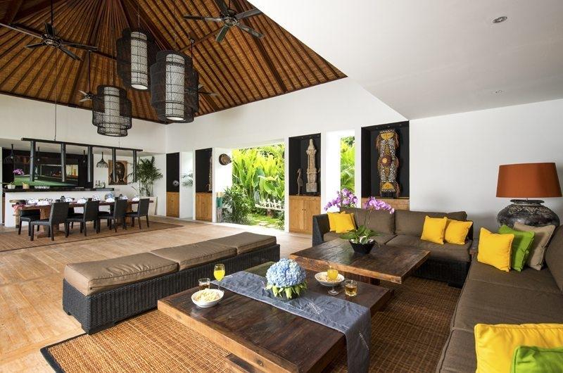 Villa Anam Living and Dining Area, Seminyak | 8 Bedroom Villas Bali