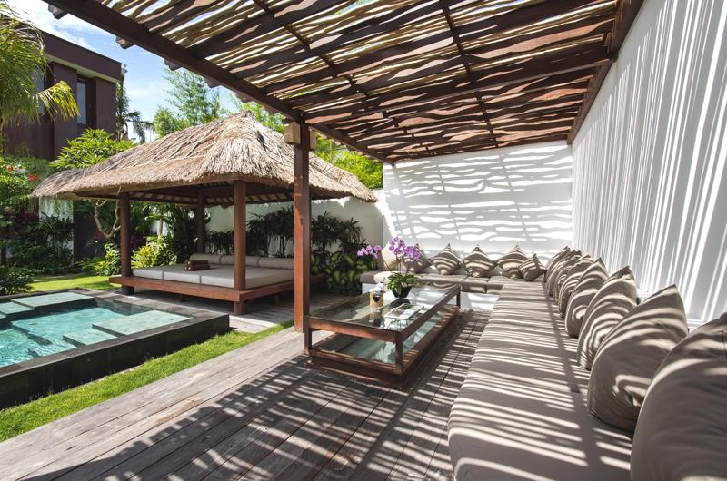 Villa Anam Pool Side Seating Area, Seminyak | 8 Bedroom Villas Bali