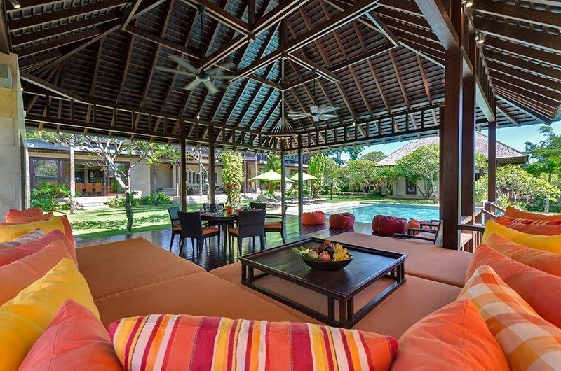 Bendega Villas Lounge Area with Pool View, Canggu | 8 Bedroom Villas Bali