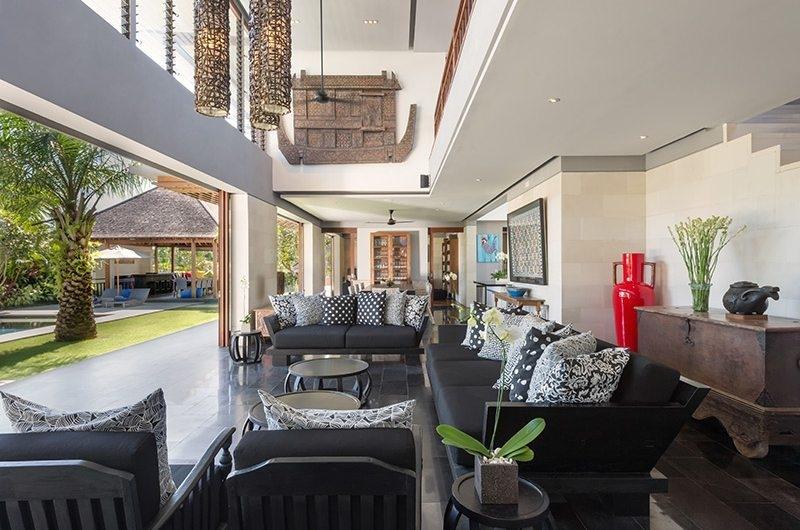 Bendega Villas Indoor Living Area, Canggu | 8 Bedroom Villas Bali