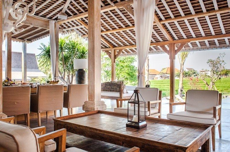 Jeeva Saba Estate Living Area with View, Kerobokan | 8 Bedroom Villas Bali