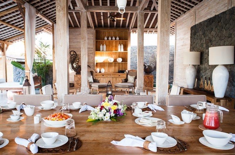 Jeeva Saba Estate Living and Dining Area, Kerobokan | 8 Bedroom Villas Bali